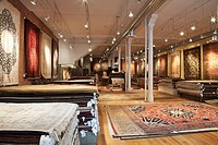 Area Rugs in a Store