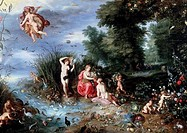 Allegory Of The Elements Jan Bruegel the Elder 1568_1625 Flemish