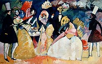 Group in Crinolines by Vasily Kandinsky, 1866_1944, USA, New York City, Solomon R. Guggenheim Museum