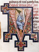 Decorated Initial Manuscripts_  Manuscript Stift Kremsmunster, Austria Benedictine Abbey