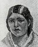 Portrait of a Girl, R. de la Varre Bolivian, Museum of Fine Art, La Paz, Bolivia
