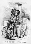 Florance Nightingale, cartoon from Punch, 1854, Punch, the famous comic periodical, published a cartoon, belittling Nightingale´s mission, London
