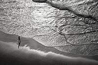 Zumaia beach, Zumaia, Gipuzkoa, Basque Country, Bay of Byscay, Spain