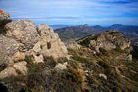 Mountain landscape, Sierra Mariola Natural Park, Valencia, Spain