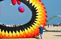Italy, Emilia Romagna, Rimini, International Kite Festival, Kites Flying
