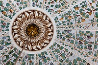 View of an ornate ceiling in the Harem complex of Topkapi Palace.