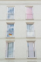 Germany, Munich, windows of residential building