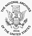 U.S. NATIONAL ARCHIVES.Seal of the National Archives of the United States.