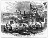 NEWARK: GERMANTOWN, 1876.View of the Germantown neighborhood, Newark, New Jersey. Wood engraving, 1876.