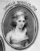 CORNELIA SCHUYLER(1776-1808). Sister-in-law of Alexander Hamilton. Oil on panel by John Trumbull, 1792.