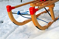 Sled in winter