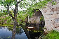 Roman bridge in Cebreros  Ávila  Castilla León  Spain