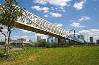 Irene Hixon Whitney Bridge designed by Siah Armajani Loring Park to Minneapolis Sculpture Garden  Minneapolis Minnesota MN USA