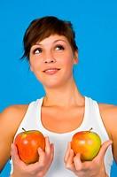 Girl mit Apfel