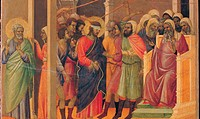 The Maesta, front, by Duccio di Buoninsegna, 1308 _ 1311, 14th Century, tempera on panel