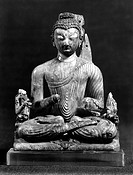 INDIA: BUDDHA, 8th CENTURY.Carved ivory seated Buddha from India, 8th century.