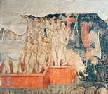 Last Judgment, by Unknown artist, 14th Century, fresco