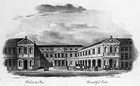 THE HAGUE: PALACE, c1830Noordeinde Palace, the royal palace in The Hague, the Netherlands. Lithograph, Dutch, c1830.