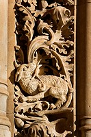 Detail of the facade of the New Cathedral of Salamanca. Castilla y León. Spain