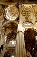 Interior of the New Cathedral of Salamanca. Castilla y León. Spain