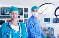 Portrait of surgeons in operating room