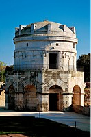 Mausoleum of Theodoric in Ravenna, by Unknown artist, 520, 6th Century, Istrian stone