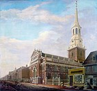 PHILADELPHIA: STREET, 1811.'North Second Street and its Associations,' with a view of Christ Church, built between 1727 and 1754, in Philadelphia, Pen...