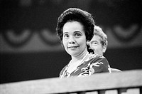 CORETTA SCOTT KING(1927-2006). American civil rights leader; wife of Martin Luther King, Jr. At the Democratic National Convention in New York City, 1...