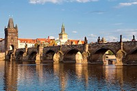 architecture, bridge, Charles bridge, cities, city, cityscape, colour, Czech Republic, day, Europe, exterior, outdoor, outdoors, outside, Prague, prah...
