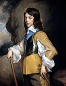 WILLIAM II (1626-1650).Prince of Orange, count of Nassau. Painting by Anthony Van Dyck, c1640.
