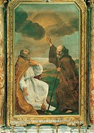 St Francis of Sales and St Francis of Paola, by Sacchi Andrea, 1640, 17th Century, oil on canvas