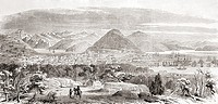 View of San Francisco and its bay in the 1850's  From L'Univers Illustre, published Paris 1858