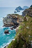 Bakio Coast and San Juan De Gaztelugatxe. Vizcaya. Basque Country. Spain. Europe.