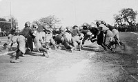 FOOTBALL GAME, c1902.An American football game, c1902.