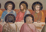 Stories of the Passion of The Last Supper, by Giotto, 1304 _ 1306, 14th Century, fresco