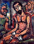 ROUAULT: CHRIST, 1932.'Christ Mocked by Soldiers.' Oil on canvas by Georges Rouault, 1932.