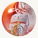 Sphere containing Maneki Neko and other Japanese images