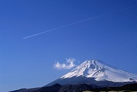 Jet Stream Over Mount Fuji