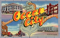 Greeting Card from Ocean City, New Jersey. ca. 1946, Ocean City, New Jersey, USA, Greeting Card from Ocean City, New Jersey