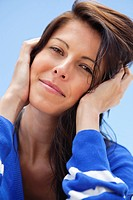 Close_up of a woman day dreaming