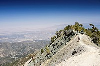 Hiking on Mount Baldy in the San Gabriel Mountains, California