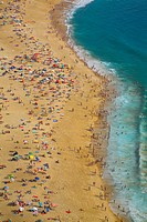 Aerial view of beach at Nazare, Estremadura, Portugal