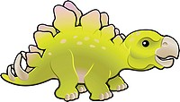Cute friendly stegosaurus vector illustration