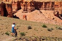 Mountain biker in Canyon