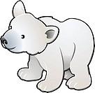 Cute Polar Bear Vector Illustration