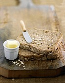 Sliced granary bread