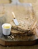 Sliced granary bread