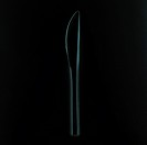 Knife on a black background