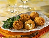 Rice and cheese fried balls