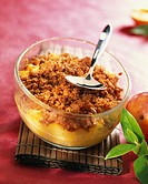 Nectarine and Speculos biscuit crumble